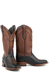 "Altan Boot Mens Boot Black Goat Vamp Brown 13""shaft"