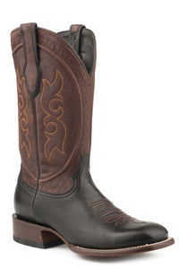"Bridger Boot Mens Boots Black Goat Vamp Wine 13"" Shaft"