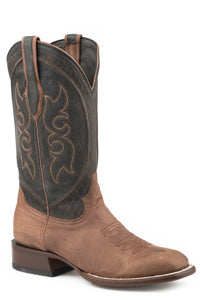 "Westby Boot Mens Boots Brown Calf Vamp Black 13"" Shaft"