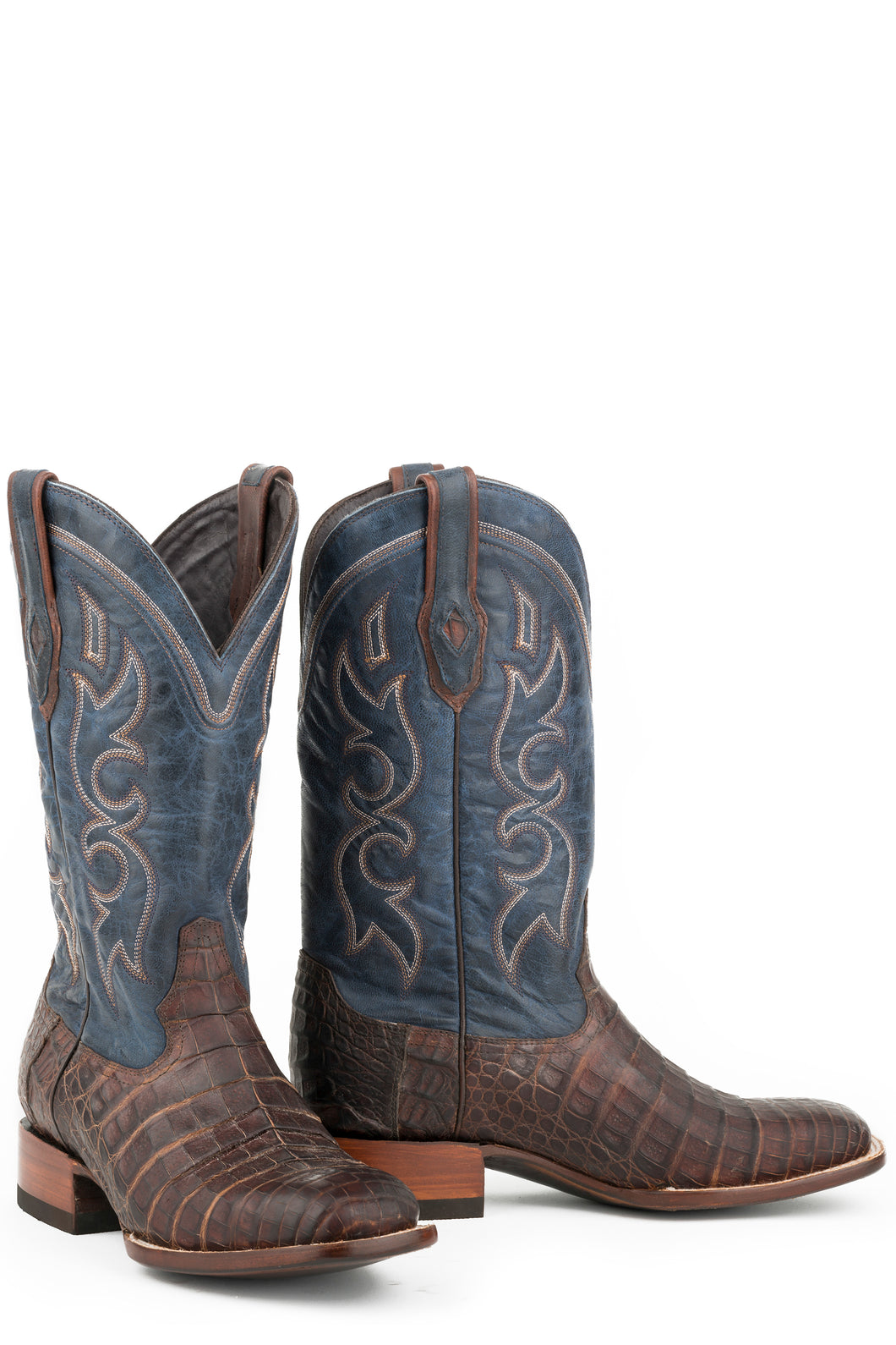 Bozeman Boot Mens Boot Brown Oiled Caiman Belly Vamp 13