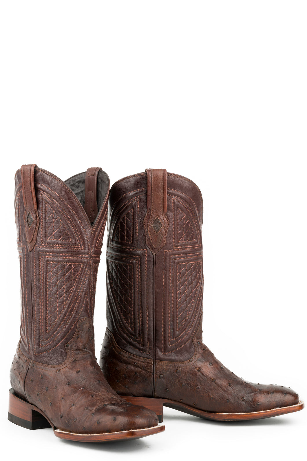 Jackson Boot Mens Boot Tobacco Ostrich Vamp Brown 13