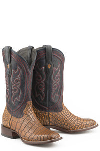 "Roundup Boot Mens Boots Taupe Alligator Vamp Blue 13""shaft"