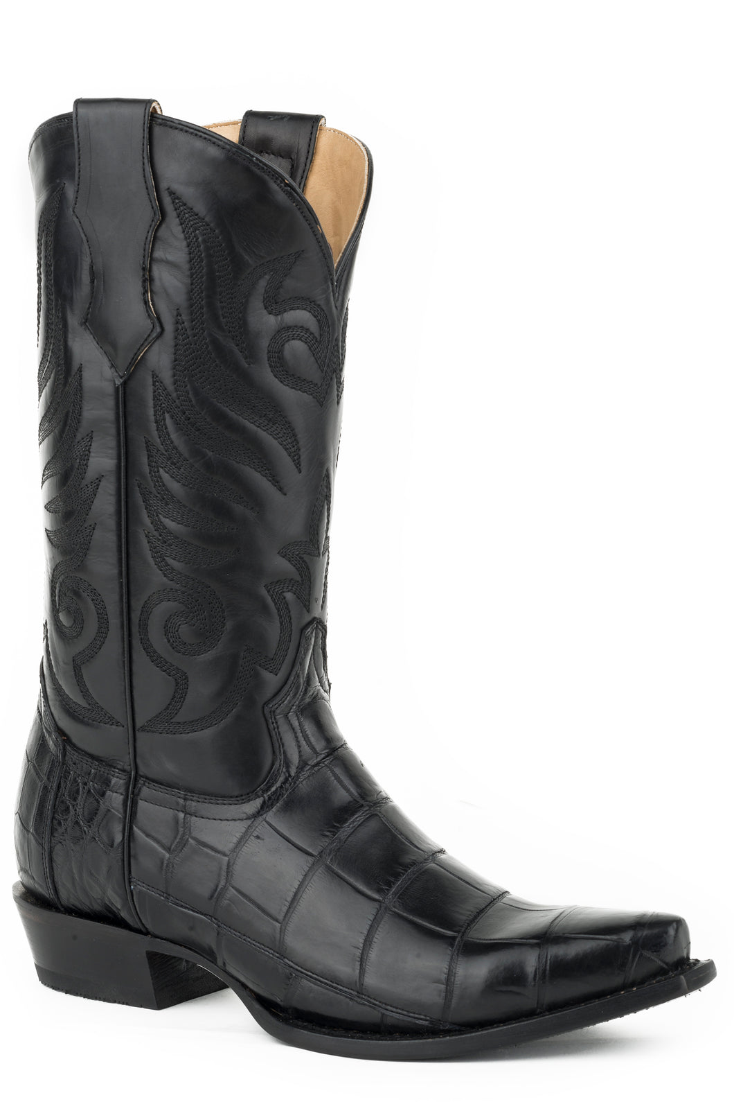 Dynamite Boot Mens Boots Polished Black American Alligator Vamp