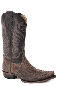 Dynamite Boot Mens Boots Sanded Brown Python Vamp