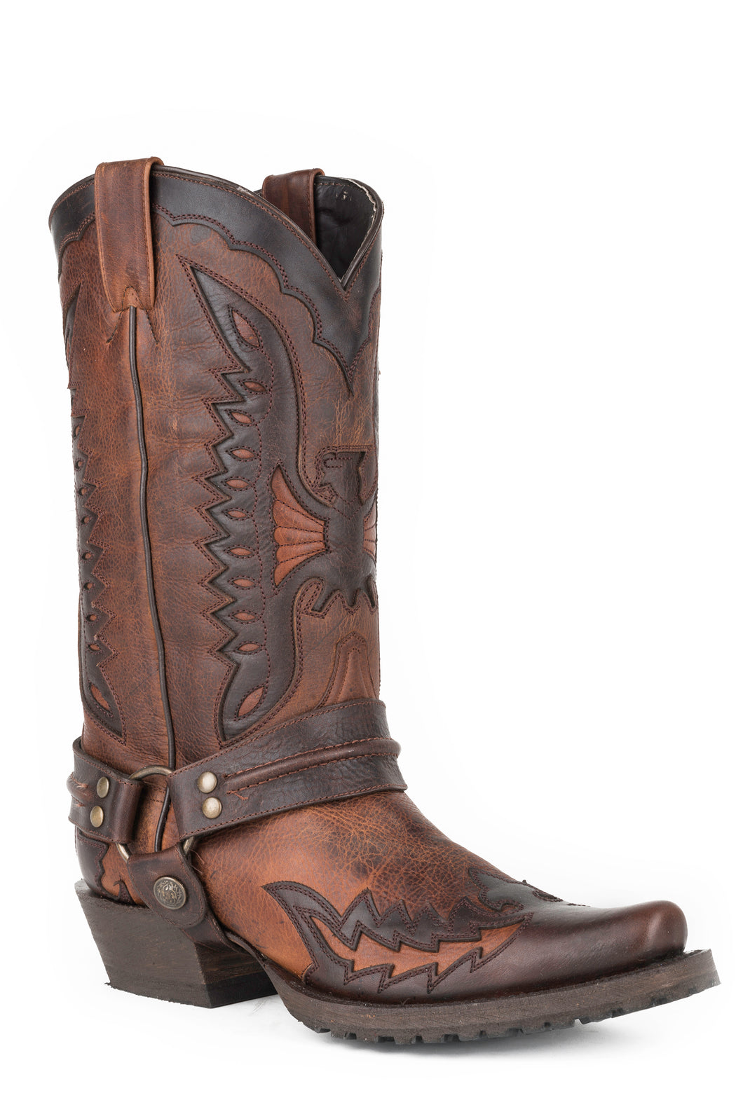 Biker Outlaw Eagle Boot Mens Boot Eagle Shf Wingtip Br Harness Boot