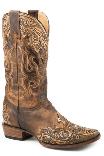 Adam Boot Mens Boots Oily Brown Vamp Shaft