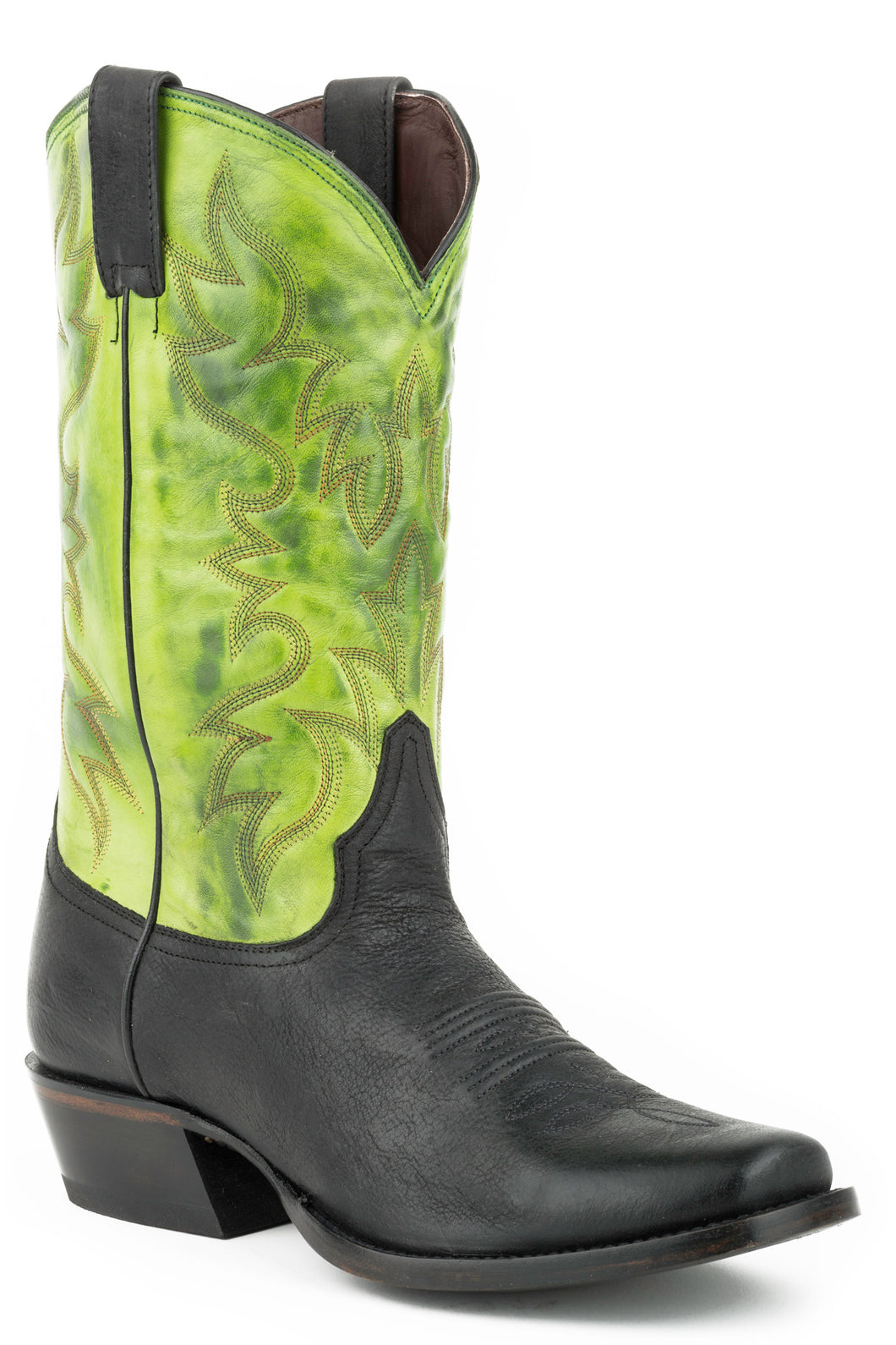 Shady Boot Mens Boot Burnished Green Shaftblack Vamp