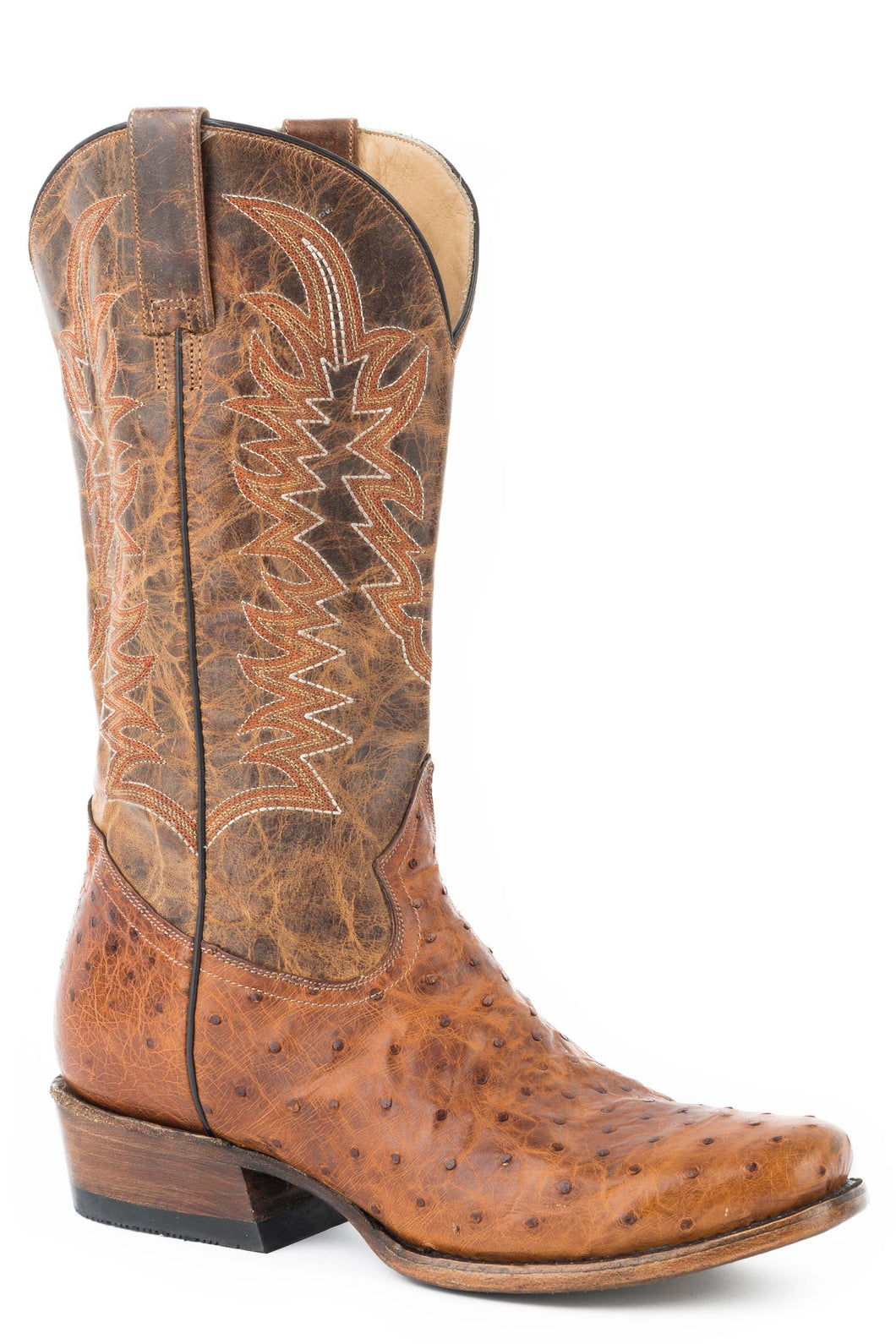 Hoss Boot Mens Boot Distressed Full Quill Waxy Brown Vamp