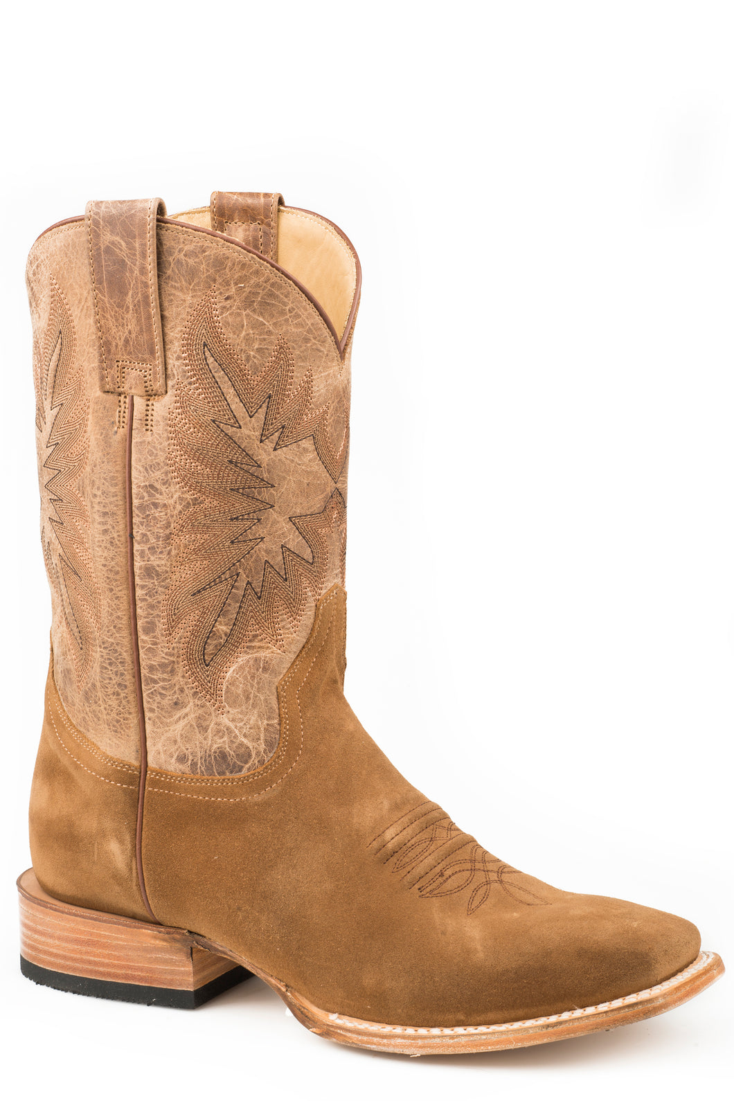 Bluff Boot Mens Boots All Over Tan Suede Vamp Shaft