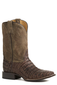 Deadeye Boot Mens Boots Nubuck Brown Caiman Belly Vamp