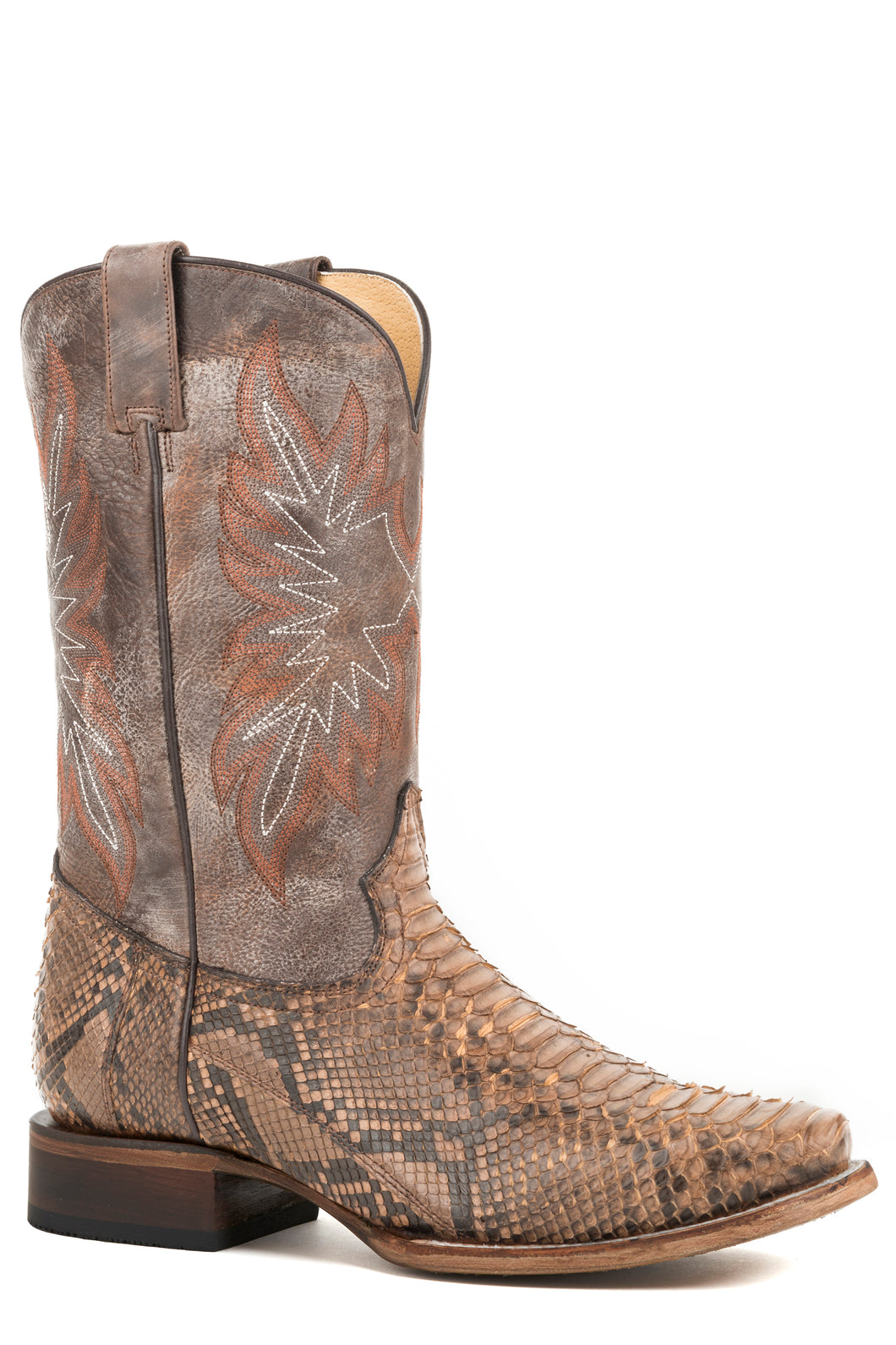 Snake Eyes Boot Mens Boots Brown Backcut Python Vamp