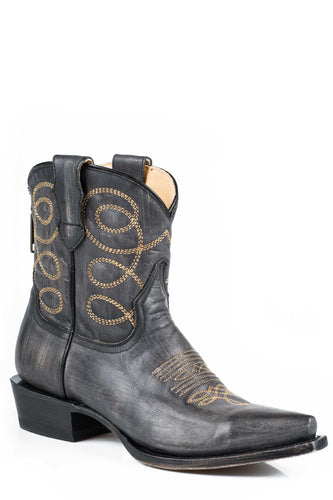 Abby Boot Ladies Boot Black Sanded Vamp And 7