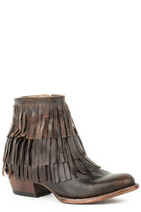 "Maggie Boot Womens Boots Brown Vamp And 6""fringe Shaft"