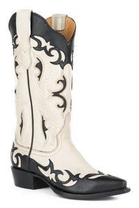 "Piper Boot Womens Boot Cream Vamp And 13"" Shaft With Unique"