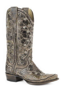 "Pita Boot Womens Boot Crckle Tobacco Vamp And 13"" Shaft With"