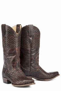 "Bea Boot Womens Boot Brown Basket Weave Vamp 13"" Shaft"