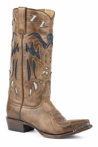 "Mamie Boot Womens Boot Brown Vntg Finished Vmp And 13"" Shaft"
