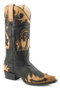 "Faye Boot Womens Boots Black Vamp And 13"" Shaft With Wing"