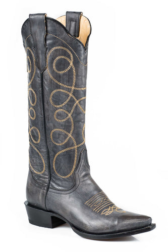 Abigail Boot Ladies Boots Black Sanded Vamp And 15