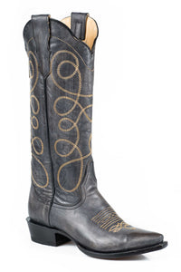 "Abigail Boot Ladies Boots Black Sanded Vamp And 15"" Shaft"