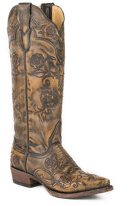 "Flora Boot Womens Boot Black Vamp And 15""shaft With Back Zip"