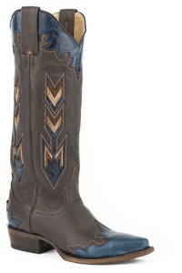 "Vida Boot Womens Boots Brown Vamp And 15"" Shaft With Unique"