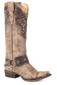 "Lilith Boot Womens Boots Brown Vamp And 15"" Shaft With Crown"