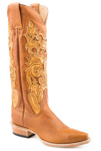 "Jules Boot Womens Boots Brown Vamp And 15"" Shaft With Crown"