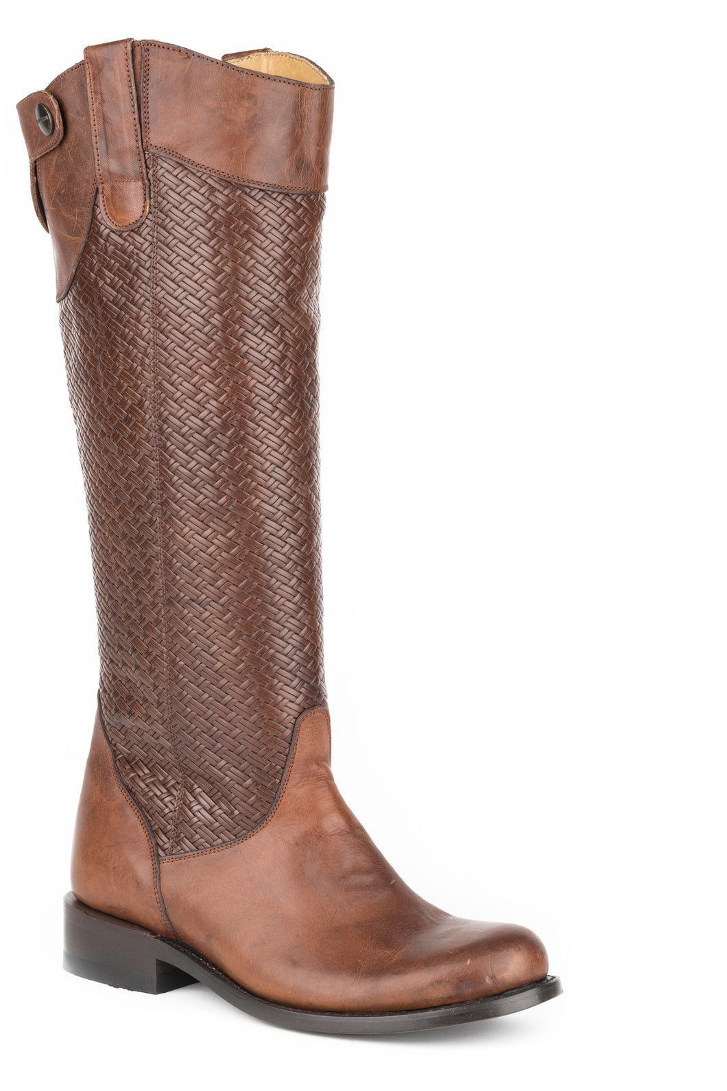 Chelsea Boot Womens Boot Brown Vamp And Basket Weave 16