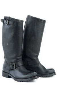 "Streetwise Boot Womens Boot Black Vamp And 16""shft With Side Belt"