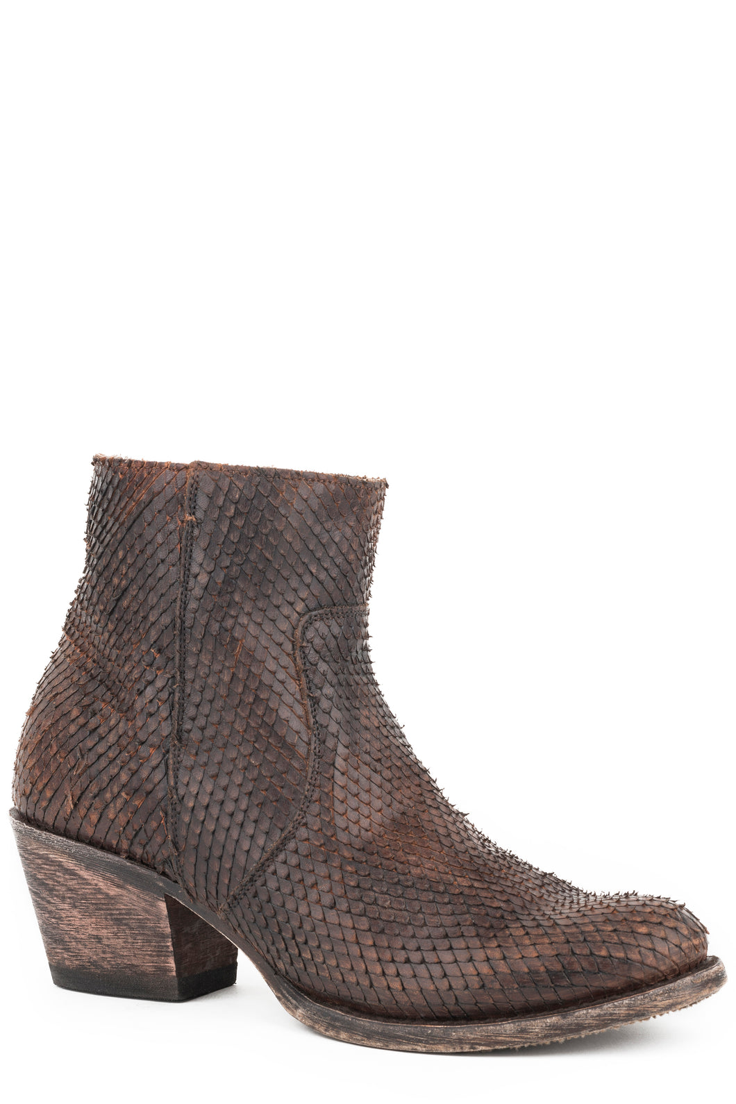Dani Boot Womens Boot Distressed Brown Diamond Cut Vamp And