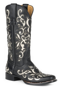 "Ivy Boot Womens Boot Destroyer Black Vamp And 13"" Shaft"