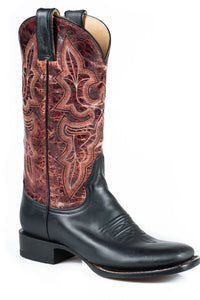 "Jane Boot Ladies Boot Black Vamp Red Crackle 12"" Shaft"