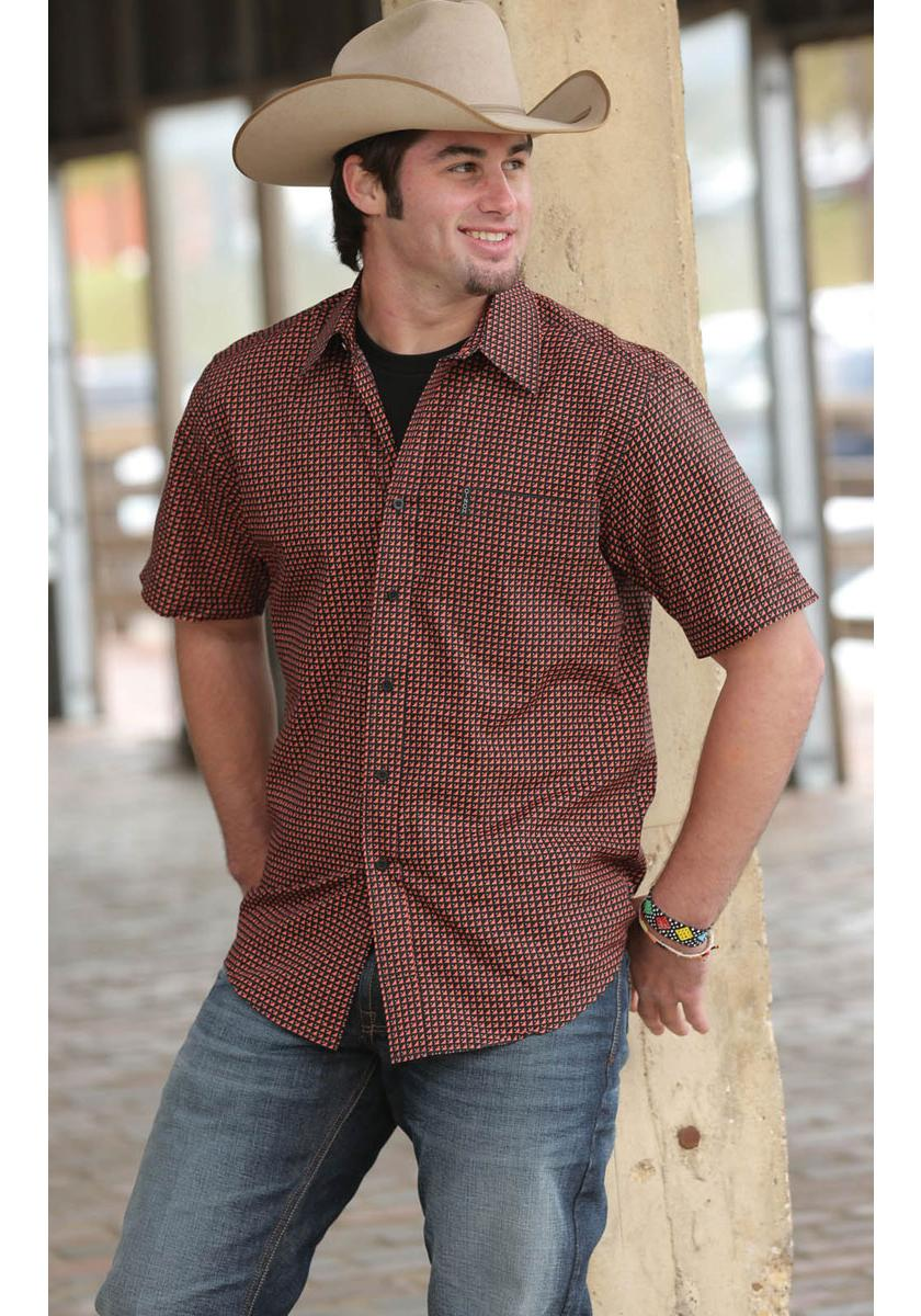 Cinch Modern Fit Basic Print Men's Short Sleeve