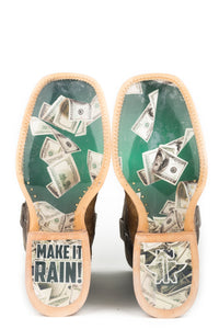 Make It Rain Raining Dollars Sole Boot Mens Boot Make It Rain