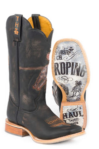 Open Roper Rodeo Poster Sole Boot Mens Boot Open Roper