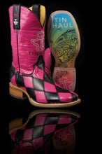 Harlequin With Rainbow Butterfly Sole Boot Womens Boots Harlequin