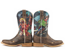 Wild Wild West Cowboy Indian Sole Boot Womens Boots Wild Wild West Non-removable Insole