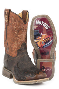 Flaming Hottruck Club Sole Boot Big Kids Boots Flaming Hot