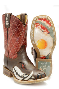 Not Boaring Bacon Eggs Sole Boot Big Kids Boots Not Boaring