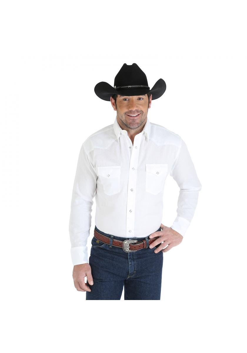 George Strait Wrangler Shirt Men's Long Sleeve