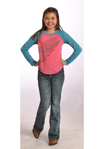 Jeans With Embroidery- Girls Boot Cut Jeans Girls' Jeans