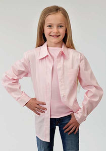 Solid Poplin Button Collection Basicsolid Girls Long Sleeve Shirt Solid Poplin Western Modle Vergtd Snap