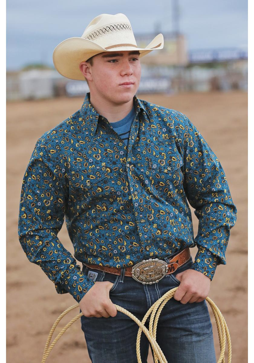 Cinch Modern Fit Western Plain Men's Long Sleeve