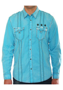 Teal Long Sleeve Shirt Men's Long Sleeve