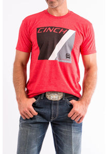 Red Cotton-poly Tee Shirt Men's T-Shirts