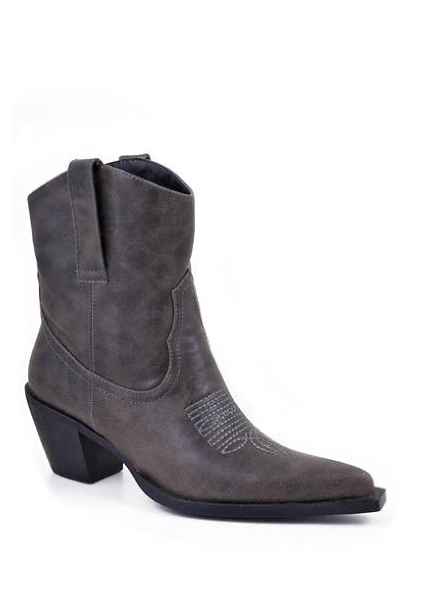 Grey Fashion Ankle Boot Women's Boots