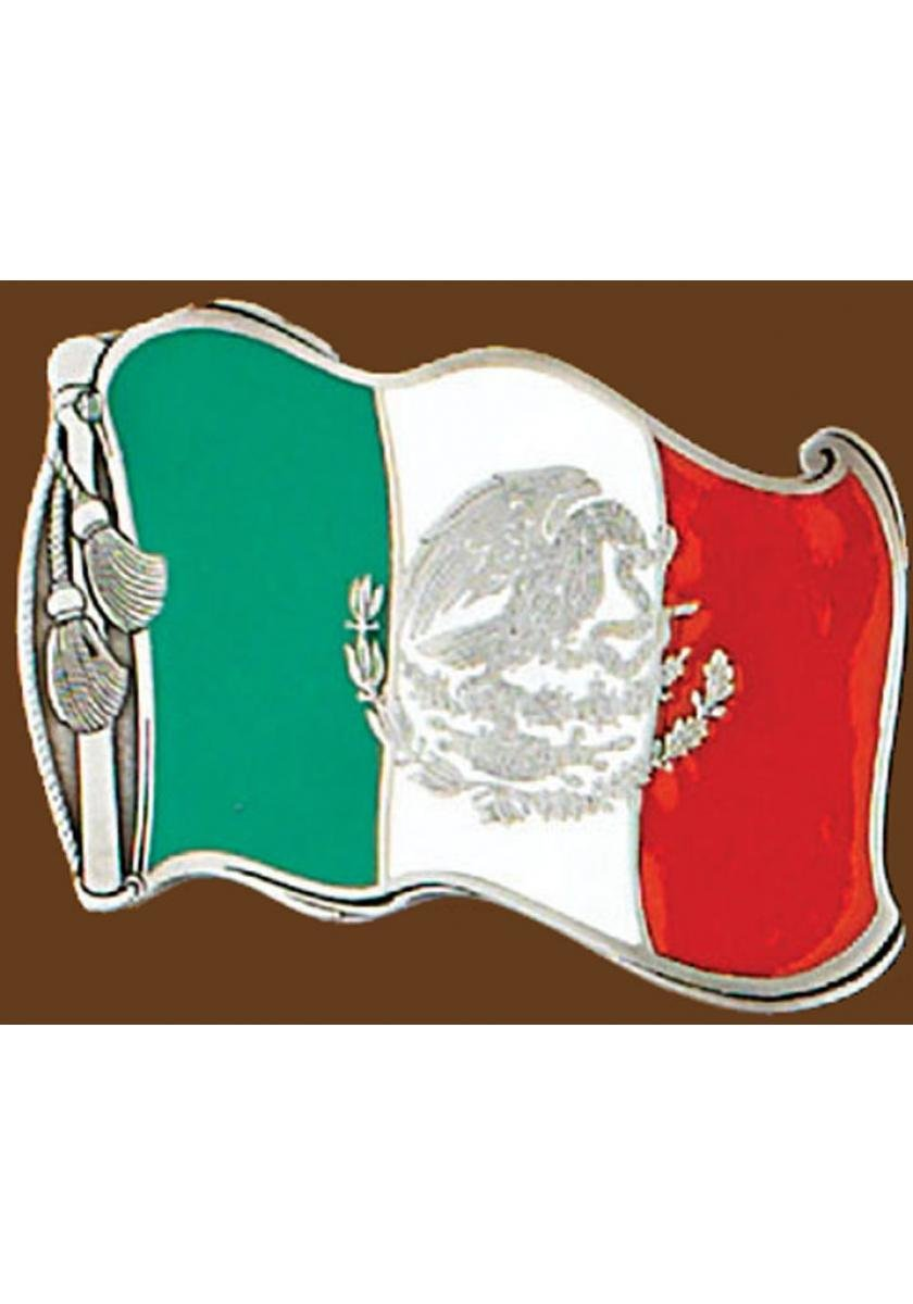 Mexican Bandera Buckle Men's Accessories