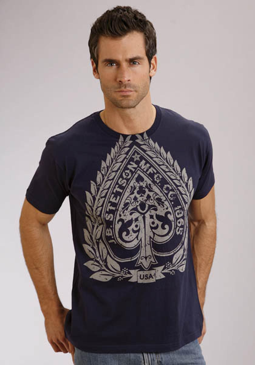 Stetson Aces Screen Print Stetson Men's T-shirt Men's T-Shirts