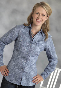 Paisley Foulard Performance Collection Women's Long Sleeve